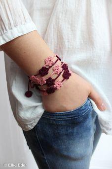 Wickelarmband Armband mit Blumen - leicht und trendy
