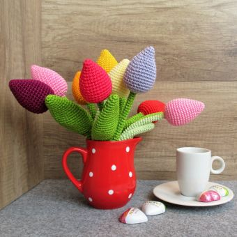 Häkelanleitung Tulpe