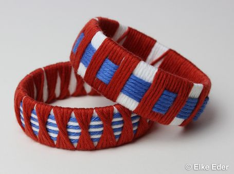 Armreif - schick und stylisch in Terracotta, Weiß und Blau
