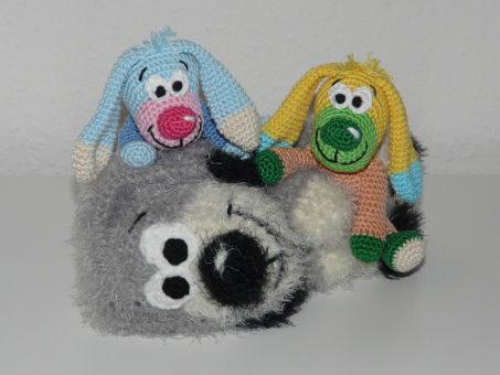 Häkelanleitung Wollrest Hunde