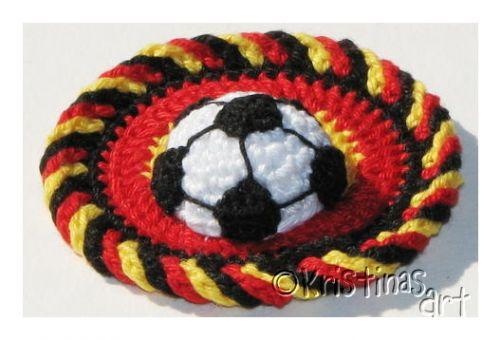 Häkelanleitung Fußball Applikation