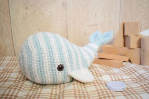 Häkelanleitung Walfisch HUGO Baby Spieluhr - für Anfänger
