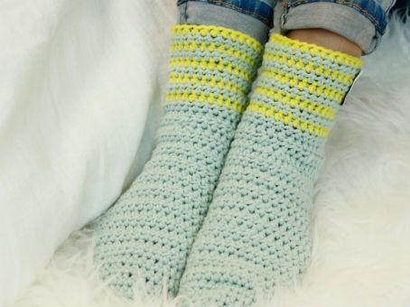 Häkelanleitung für Socken Shimanto
