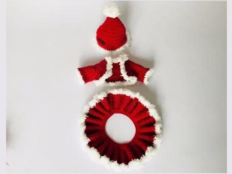 Weihnachts-Outfit, für Wiesel Rösli das bayrische Dirndl,