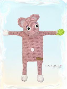 Häkelanleitung Wärmekissenbezug Schwein Rosalie