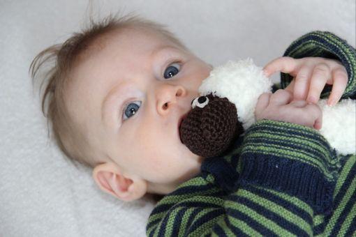 Häkelanleitung für eine Babyrassel