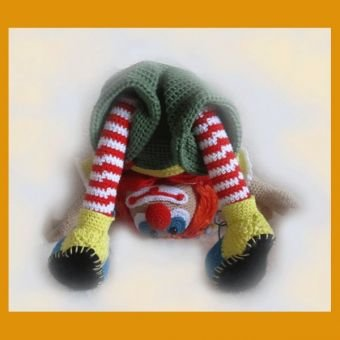 Pipa der kleine Clown PDF Häkelanleitung Puppe