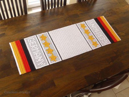 """Häkelanleitung Tischläufer """"Germany"""""""