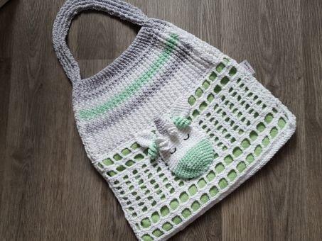 108 Häkelanleitung Tasche Strandtasche Einhorn