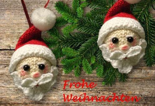 Weihnachtsmann Häkelanleitung