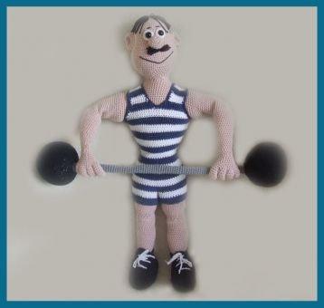 Big Ben,  PDF Häkelanleitung Puppe Amigurumi, Häkel Puppe
