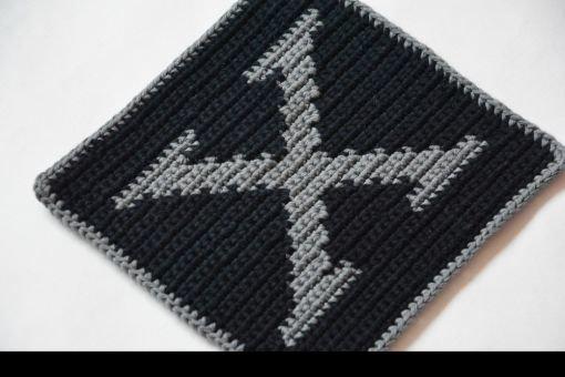 Topflappen Häkelanleitung Buchstabe X