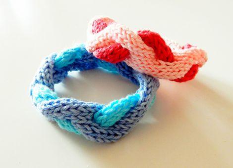 """Strickmuster Armband """"Des Meeres und der Liebe Wellen"""""""
