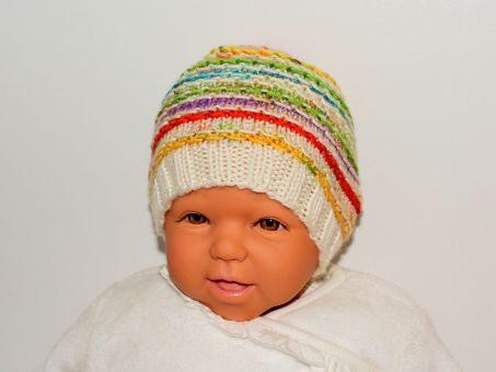 Strickanleitung Babymütze, Erstlingsmütze 0 - 3 Monate
