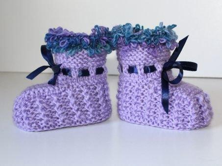 Strickanleitung Babyschuhe, Booties, ideal für Anfänger