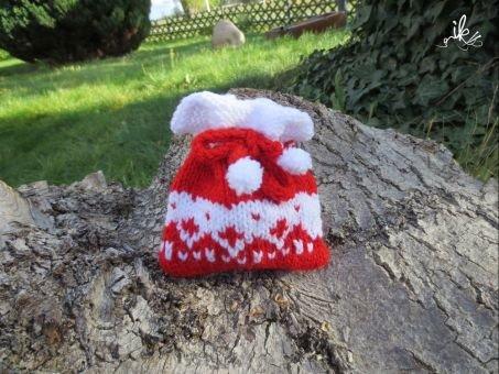 Strickanleitung Weihnachtsbeutel / Weihnachtssäckchen