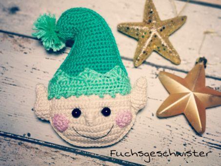 Weihnachtself als Geschenkanhänger oder Deko häkeln