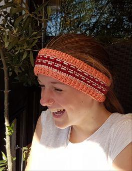 STIRNBAND, muschelig warmes buntes Stirnband