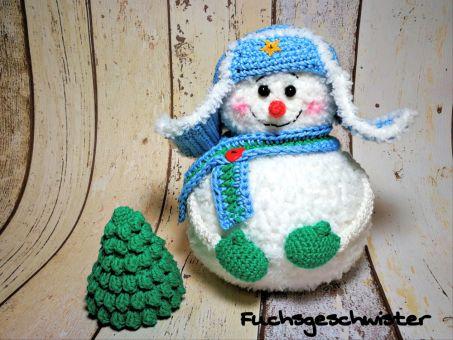 Schneemann mit Tannenbäumchen