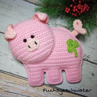 Glücksschweinchen häkeln