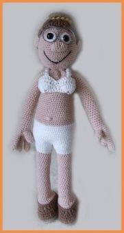 Lehrerin Fräulein Johnson, Häkelanleitung Puppe