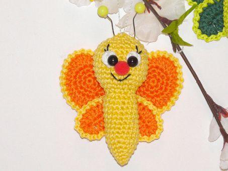 Häkelanleitung kleiner Schmetterling
