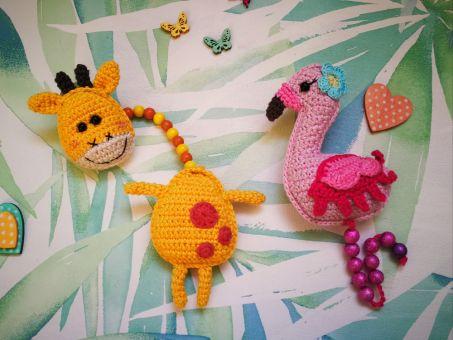 2 in 1 Anleitung Rechenketten Giraffe und Flamingo