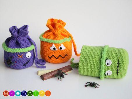 Häkelanleitung - Geschenkbeutel für Halloween