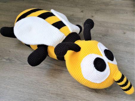 155 Häkelanleitung Biene Kissen Bodenkissen XXL Amigurumi