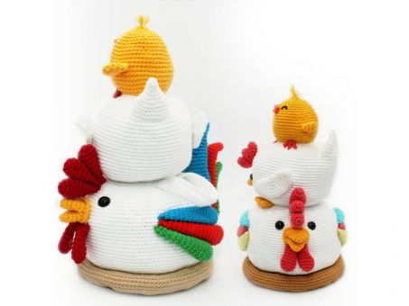 Hühnerhaufen - Häkelanleitung
