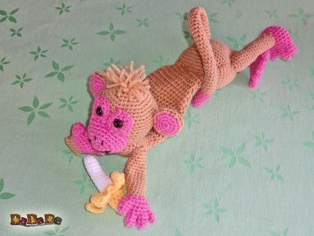 Türstopper, Klemmschutz Affe mit Banane