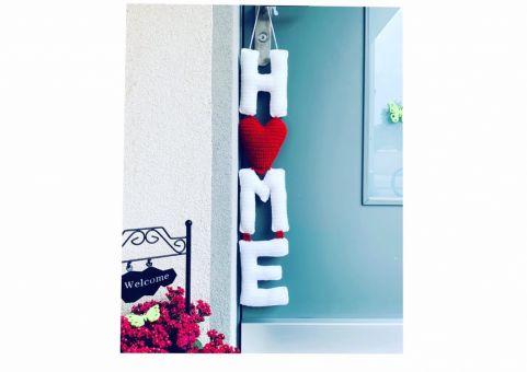 Häkelanleitung Home Schriftzug