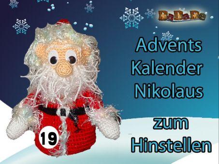 Adventskalender Figuren, Nikolaus - gehäkelt von Dadade