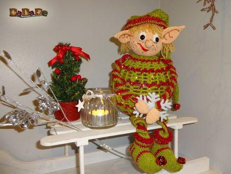 Weihnachts-Wichtel, die beleuchtete Dekoration