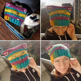 Mütze häkeln, Kitty Kate