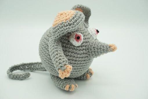 Muki-Maus ⇝ Häkelanleitung (Crochet Pattern Mouse)