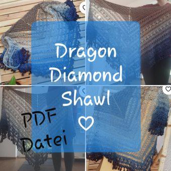 Dreieckstuch häkeln, Dragon Diamond