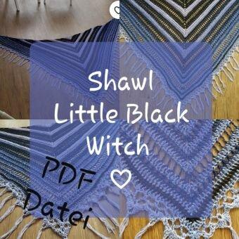 Dreieckstuch häkeln, Little Black Witch