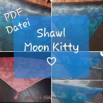 Motivtuch häkeln, Kitty Moon