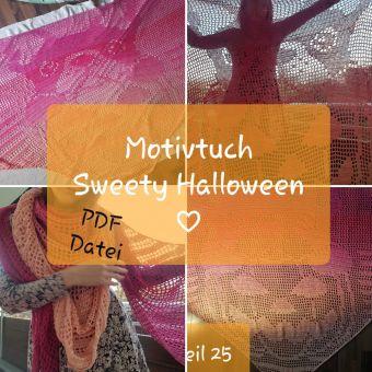 Motivtuch häkeln, Sweety Halloween