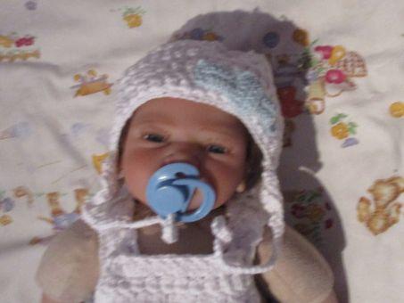 Baby- und Rebornpuppe- Mütze