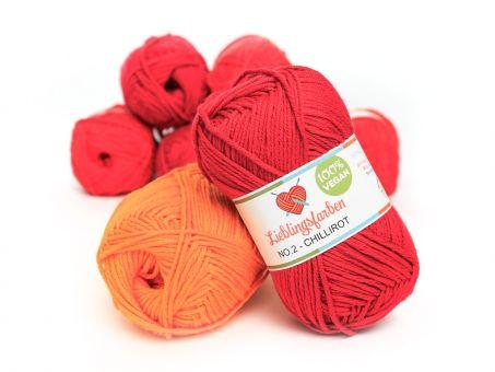 Lieblingsfarben No.2: Lieblingswolle in 30 Farben chillirot