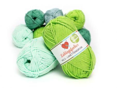 Lieblingsfarben No.2: Lieblingswolle in 30 Farben limettengrün