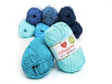 Lieblingsfarben No.2: Lieblingswolle in 30 Farben meerblau