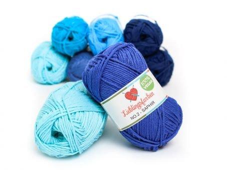 Lieblingsfarben No.2: Lieblingswolle in 30 Farben saphir
