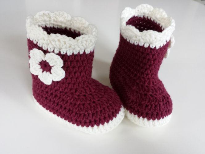 Sabina´s Atelier - Häkelanleitung Baby-Booties | MyBoshi.net