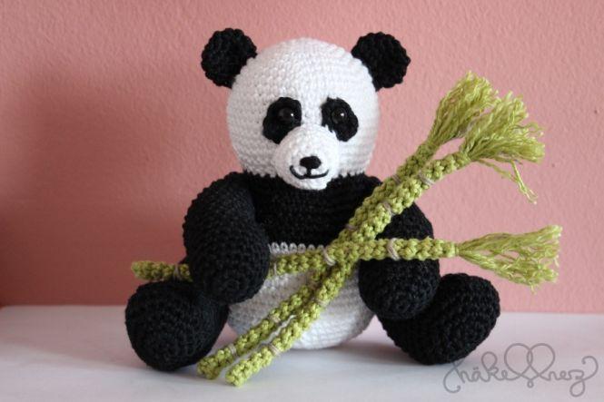 Häkelherz Häkelanleitung Pandabär Samsam Myboshinet