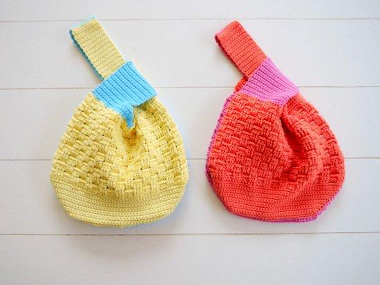 WoolAffair - (149) Häkelanleitung für eine japanische Knotentasche ...