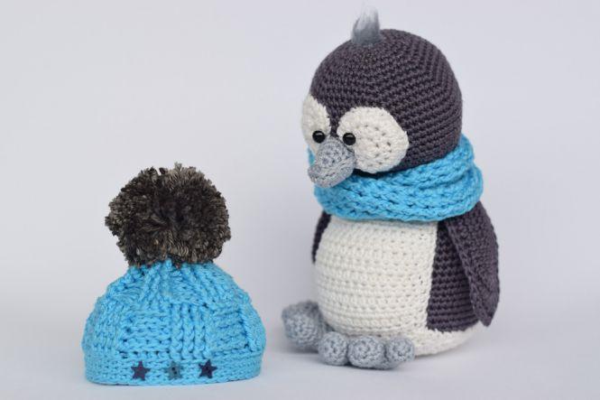 Haekelicious Haekelicious Pinguin Mit Mütze Und Eiswürfel