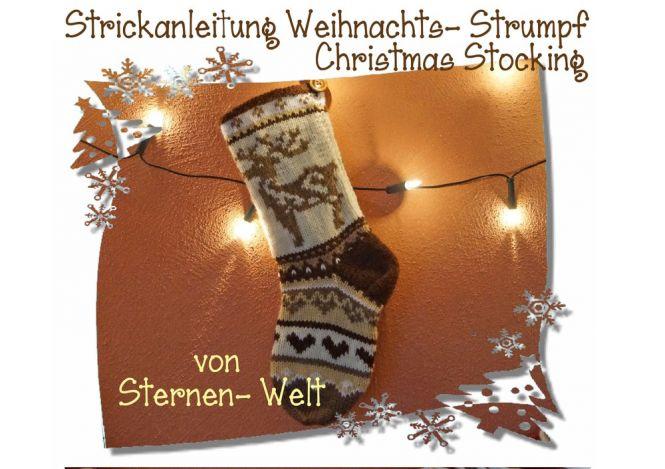 Sternen- Welt - Weihnachtssocken, Christmas Stocking, tolle Deko ...